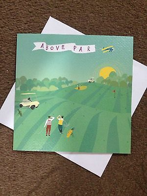 ABOVE PAR Golf Theme Birthday Card 65 X PAPERLINK Lovely Quality
