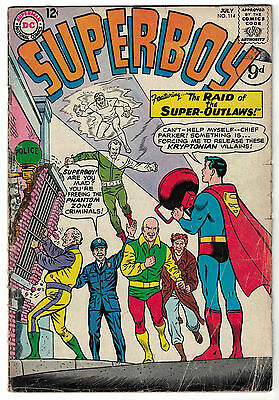 DC Comics SUPERBOY Number 114 The Raid Of The Super-Outlaws! VG