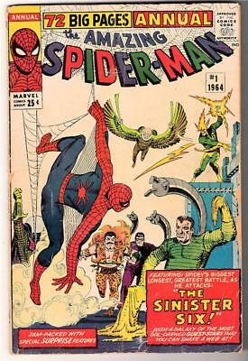 MARVEL Comics Spiderman king size Annual AMAZING SINISTER 6 SIX VG 4.0