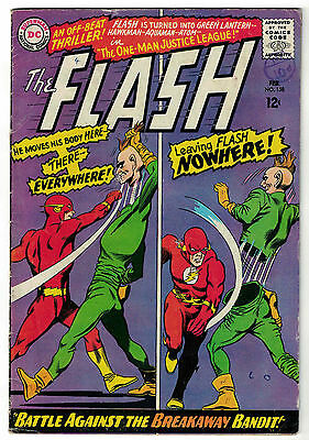 DC Comics THE FLASH Issue 158 Battle Against The Breakaway Bandit! VG+