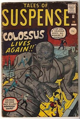 Marvel TALES OF SUSPENSE 20 Colossus live again VG-