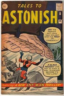 Marvel TALES TO ASTONISH 36 2nd COSTUME ANT-MAN Pym GIANT MAN AVENGERS FN+