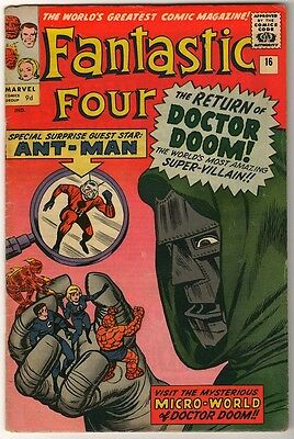 Marvel Comics VG+ FANTASTIC FOUR #16 DR DOOM ANT MAN
