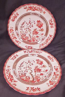 "Two Copeland Spode India Tree Old Mark Luncheon Plates 8 7/8"" Made In England"
