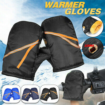 Hand Warmer Thermal Waterproof Motorcycle Bike Handlebar Grip Muffs Gloves Mitts