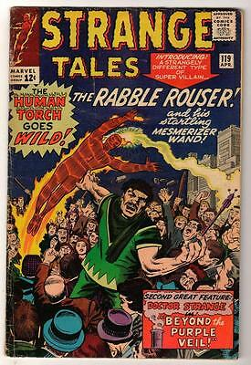 Marvel Comics VGF 4.5 STRANGE TALES #119 FANTASTIC FOUR  Rabble rouser