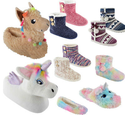 370341c9239c Ladies Girls Childrens Novelty 3D Animal Plush Slippers Bootee Mule Ballet
