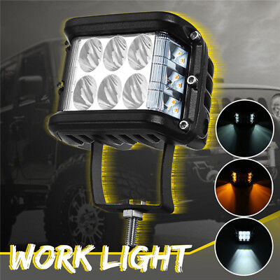 20W 12LED Work Light Side Shooter Lamp Pods Strobe Driving Lamp Offroad Tractor