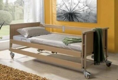 Economic II Electric Pflegebett with Bed Gallows, Care Bed,Hospital Bed