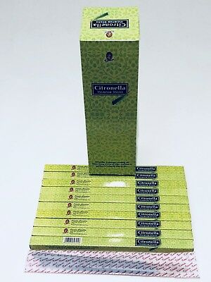 Citronella Incense Sticks x 80 (HAND ROLLED) KAMINI