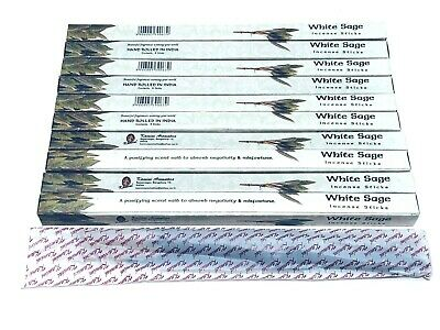 White Sage Incense Sticks x 80 Box (HAND ROLLED) KAMINI