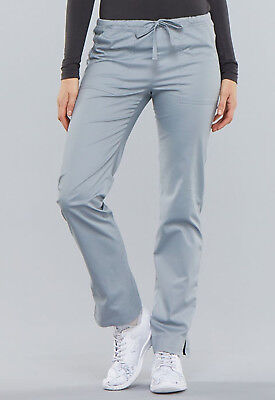 9684e0f8355 Grey Cherokee Scrubs Workwear Core Stretch Slim Drawstring Pants 4203 GRYW