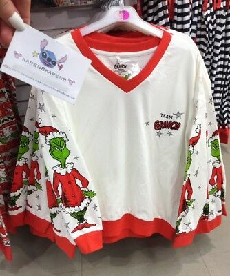 Primark Ladies The Grinch Christmas Jumper Top Womens Sweater
