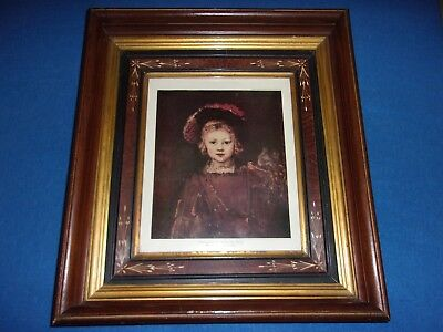 Scarce Large Antique Ornate Victorian Black Walnut Shadow Box Picture & Frame