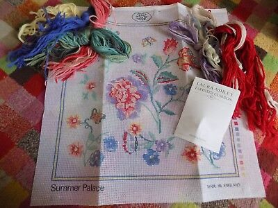 Vintage Laura Ashley Tapestry Kit Cushion Cover 'summer Palace' 50Cm X 50Cm