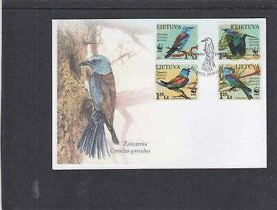 Lithuania 2008 WWF World Wildlife Fund Birds  First Day Cover FDC Vilnius pict p