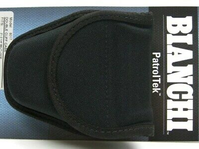 Bianchi Black 8017 Patrol Tek Double Covered Handcuff Cuff Case 31393