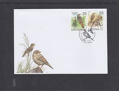 Lithuania 2013 Birds First Day Cover FDC Vilnius pictorial h/s