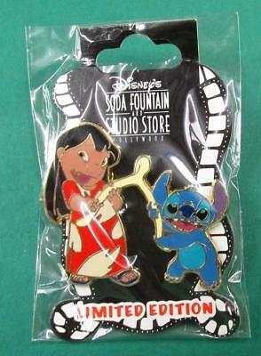 Disney Pin DSF Holiday Thanksgiving Lilo & Stitch with a Wishbone LE400