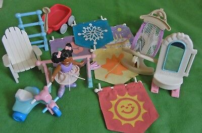 Vintage Fisher Price Loving Family Dollhouse Outdoor Items Large