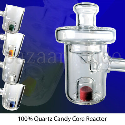100% Quartz Cadmium Core Reactor Banger & Carb Cap | 14mm 18mm | Color Changing