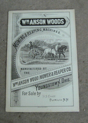 1881 Wm. Anson Woods Mowing & Reaping Machines Brochure
