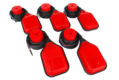 5 pcs TEMCo Liquid or Water Level Float Switch Sensor Sump Tank Controller LOT