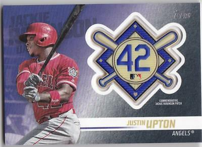 JUSTIN UPTON 2018 TOPPS Update JACKIE ROBINSON COMM. PATCH Blaster Angels