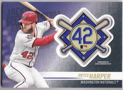 BRYCE HARPER 2018 TOPPS Update JACKIE ROBINSON COMM. PATCH Blaster Nationals