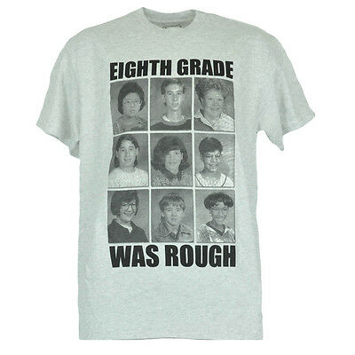 Eighth Grade Was Rough Funny Nerd Schoolbook Pictures Novelty Mens Tshirt