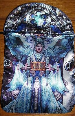 Brand New! Satin Illuminati Tarot Card Rune Stone Or Keepsakes Storage Bag