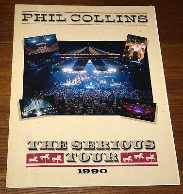 PHIL COLLINS SERIOUS TOUR 1990 PROMO PACK WITH 2 HAND SIGNED 10x8 PHOTOS GENESIS