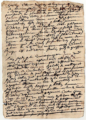 1677 Authentic Old Letter from Colombier-le-Vieux Ardèche France