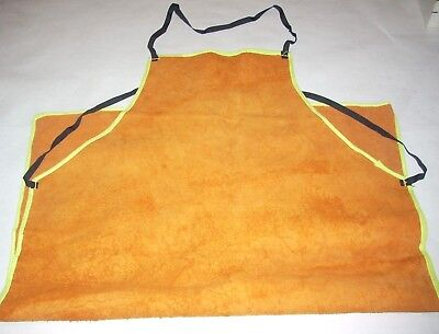 Leather Welding Apron 23 x 35 Adjustable Tie Straps Protective Work Clothing