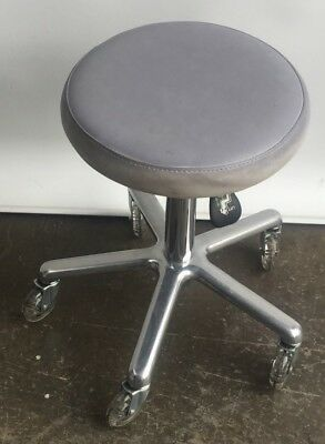 Second Hand White Stool with Skater Wheels