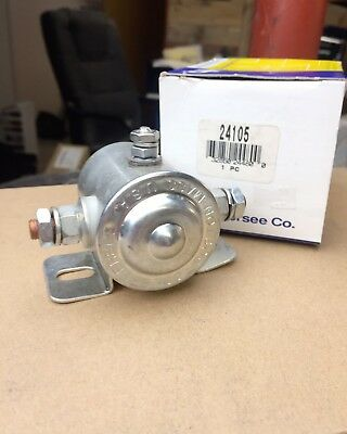 Cole Hersee 24105 Solenoid Relay 6V 4.2 Ohm Cont 3 Stud Grounded