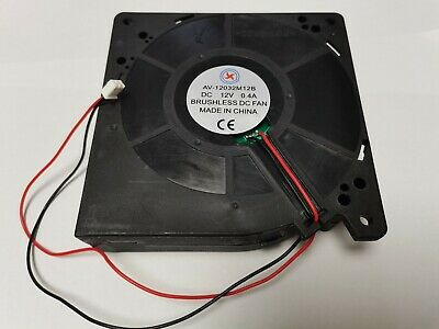 1 pcs Brushless DC Blower Fan 12V 12032S 120x120x32mm 2 Wires Sleeve-bearing New