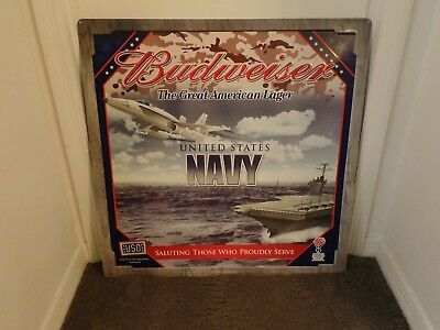 Budweiser Beer Salutes US NAVY  Great American Lager 30X29