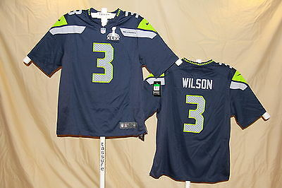 1c6c137c0 RUSSELL WILSON Seattle Seahawks NIKE Super Bowl JERSEY 2XL NWT  120 retail