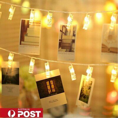 sports shoes c2439 6f250 HANGING PICTURE LIGHT Photo Peg Clip Fairy String Lights Wedding Party  Decor AU