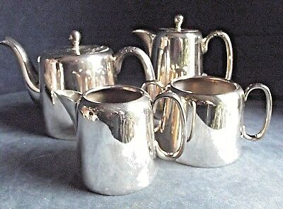 SUPERB 4 PIECE ~ SILVER Plated ~ ART DECO ~ TEA SET ~ c1930