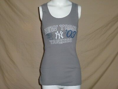8c2e76ef502888 NEW YORK NY YANKEES Ladies Tank Top Womens Medium NWT gray -  9.97 ...
