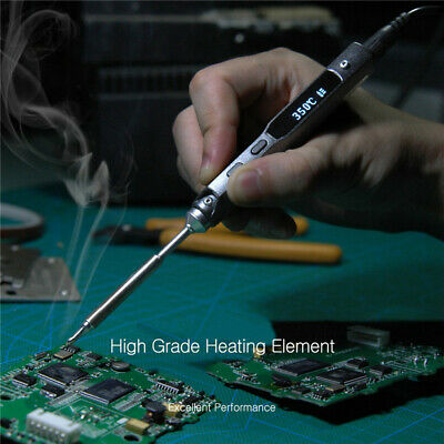 TS100 Digital OLED Programable Interface DC5525 Soldering Iron Station 40W US
