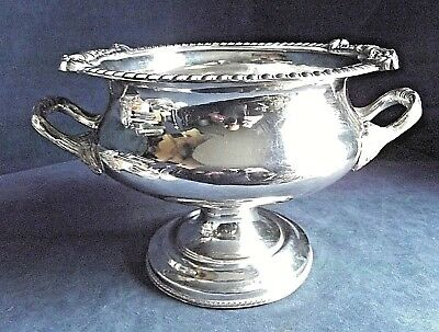 "SUPERB Large ANTIQUE 14"" ~ SILVER Plated ~ Ice BUCKET / Serving TUREEN ~ c1840"