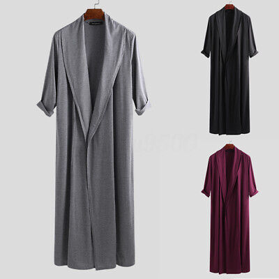 Mens Retro Casual Long Sleeve Cardigan Loose Plain S-3XL Coat Jacket Cape Cloak