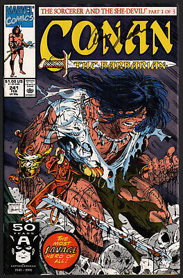 Roy Thomas SIGNED Conan The Barbarian 241 w/ Todd McFarlane Skull Cover Art
