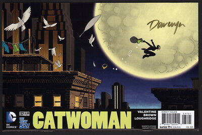 Catwoman #37 SIGNED by Darwyn Cooke Variant Cover Art / DC Comics / Batman