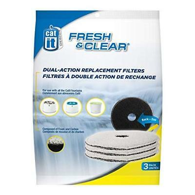 Catit Design Fresh and Clear Replacement Filters for Cat Water Fountain (Pack of