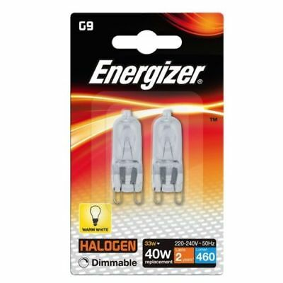 10 x G9 33w=40w ENERGIZER DIMMABLE HALOGEN ENERGY SAVING bulbs Capsule NOT LED