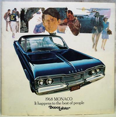 1968 Dodge Monaco Automobile Car Advertising Sales Brochure Guide Vintage